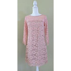 NEW Vince Camuto blush pink lace dress